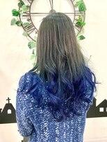 ヘアーサロン エール 原宿(hair salon ailes)(ailes 原宿)style422 マリンブルーグラデーション