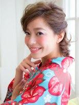 ピノ ウメダ(Pinot UMEDA)大人女子☆浴衣ショートクラシカルアレンジ
