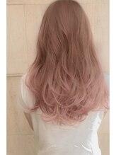 ヘアー ピープル(Hair People)色素薄めのクリアグラデーション グレージュピンク*