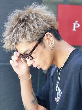 19年メンズ髪型 ワイルドツーブロックショート L リップス 梅田ロフト Lipps のヘアカタログ ホットペッパービューティー