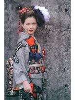 オゥルージュミュゼ(Aurouge)【aurouge musee 林碧】クールビューティー振袖ヘア*日本髪風