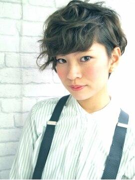 ナヌーク シブヤ(nanuk shibuya)春夏オススメ☆メンズライクな外国人風クセ感ショート☆