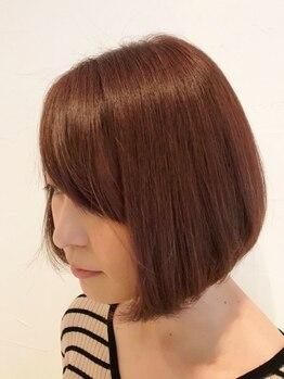 ヘアラウンジ コモレビ(hair lounge comorebi)の写真/【駐車場有】頭皮と髪をいたわりながら、優しくキレイに染め上げる。お客様に似合うカラーで輝く女性に★