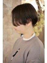 マギーヘア(magiy hair)nico【magiyhair】小顔前下がりショート&アッシュグレージュ
