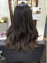 暗髪イノセントグラデーション♪ニュアンスルーズミックス巻き
