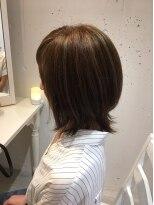 ヘアー カラー キー(HAIR color KEY)外ハネロブ&ハイライト