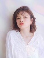 艶髪ラフな抜け感可愛い小顔ミディボブ/武蔵小杉/オッジィオット