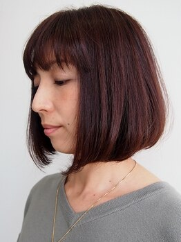 エー アイ ラミティエアンフィニ (a i L'amitie infini)の写真/ナノスチーム使用でダメージ補正★潤いを与えつつカラーもしっかり浸透する♪気になる白髪も綺麗にカバー♪