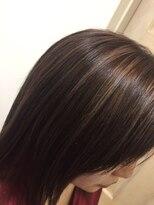 シャンドラ縮毛矯正&ブレードピンクアッシュのHUEグロスカラー