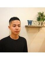ウィード(WEED)爽やか黒髪スキンフェードジェル仕上げソフモヒ外国人風