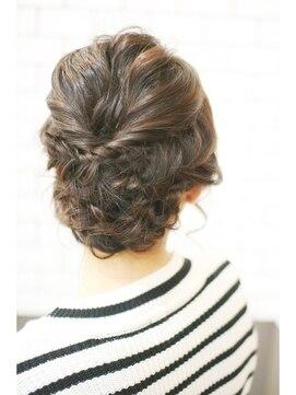 裏編み込みヘアアレンジ(結婚式・パーティーの髪型) エムズヘアー M's HAIR★MS★波wave loose set♪