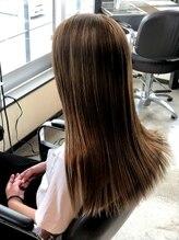 ドロップヘアー DROP HAIR髪質改善トリートメント使用!さらツヤストレート☆