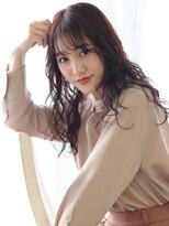 ヘアリゾート ブーケ(hair+resort bouquet)チェリーブラウン★小顔ロングヘアstyle