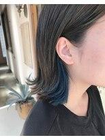 マイ ヘア デザイン(MY hair design)さり気ないブルーカラー