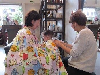 スピンヘアー 高倉店(Spin hair)の写真/【キッズスペース有り】0歳~の小さいお子様でもご一緒に来店OK!女性スタイリストが多いから安心できる♪