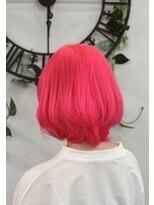 ヘアーサロン エール 原宿(hair salon ailes)(ailes 原宿)style399 ショッキングピンク☆厚めバング
