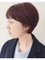 エトワール(Etoile HAIR SALON)ハンサムショート/ピンク/耳かけショート