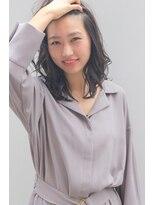 ジル ヘアデザイン ナンバ(JILL Hair Design NAMBA)【大人可愛いミディ】ダークグレージュの濡れ髪ヘア☆