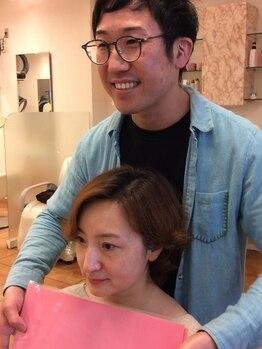 ネクサス グロウ(NEXUS-grow)の写真/お客様の肌色に合わせたパーソナルカラーで染められ、パサつき・気になる白髪もカバーし艶髪に仕上げます♪