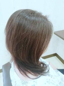 トータルビューティーサロン オヴィ ワン(Total Beauty salon OVi 1)の写真/【年齢に負けない髪はOVi・1で☆】植物由来のグレイカラーで髪・頭皮に優しくキレイに染まる♪