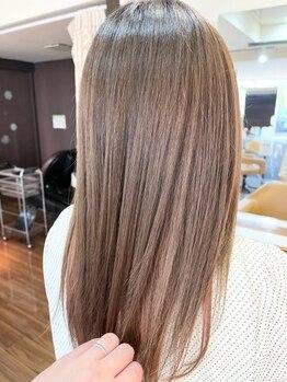"""アメリカン ヘアー(American hair)の写真/「髪への優しさ」にこだわった薬剤でダメージをケア♪""""傷んでから""""ではなく、""""傷ませない""""ためのご提案◎"""
