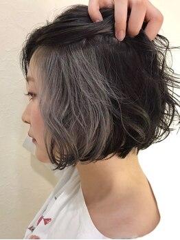 ヘアーミックス ニット(hair mix nitt)の写真/デザインカラーは若い子だけのもの?違います☆nittのデザインカラーは世代問わず誰でも綺麗に染まります♪