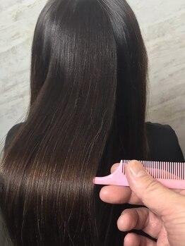 ワンポイント ウィズ パリス(One Point with Paris)の写真/【ハホニコ酸熱トリートメント使用!】髪の細胞レベルに働きかけ、本来の強さと美しさをご提供*