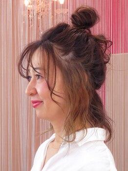 ヘアーアンドアイラッシュサロン ニコ(hair&eyelash salon nico)の写真/【デザインカラーもお任せ!】女子のわがままを叶えるサロン♪女性オーナーが一対一で対応してくれる♪