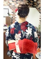 サロンド クラフト(salon de craft)【浴衣】編み込みフルアップスタイル♪