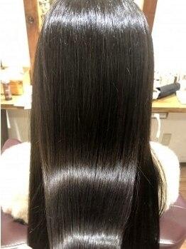 ヘアールーム モテナ(hair room motena)の写真/3stepのオーガニックトリートメントで潤うツヤ髪に。/大人気髪質改善≪TOKIO≫取り扱いあり☆【日暮里】