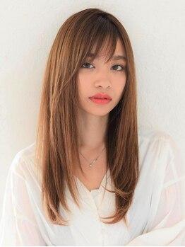 アース 浦和店(HAIR&MAKE EARTH)の写真/浦和★極上ストレート剤でまっすぐすぎない自然な艶髪へ♪毛先まで潤う仕上がりで思わず触れたくなる★