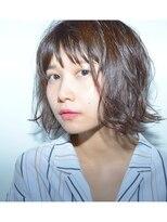 クリアーオブヘアー 栄南店(CLEAR of hair)【CLEAR】ラフなウェーブボブ×ブラウングレージュ