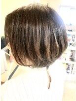 ヘアアンドメイクフリッシュ(HAIR&MAKE FRISCH)グラカラー ショートボブ