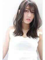 【Rose/江坂】ブルージュ_斜めバング_セミロング