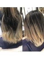 コレット ヘアー 大通(Colette hair)ミスターオーダーメイドストレートbefore &after
