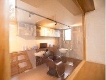 ヘアーサロン レゴリス 新潟店(REGOLITH)の雰囲気(半個室のシャンプー台でゆったりとした時間を・・**)