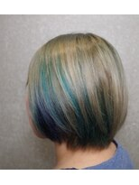 short Bob × sapphire(indigo-blue・turquoise)