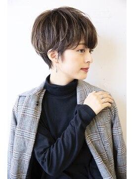 ヴェイン 渋谷(vain)【vainオフィスハイライト】ハンサムマッシュショート