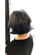 ヘアーアンドメイクランプ(Hair & make Lamp)切りっぱなしボブディ×モーブデザインカラー