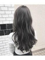 表参道/ブルージュ/ロングヘア/デジタルパーマ/暗髪カラー/