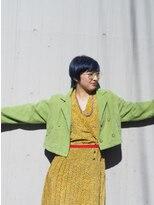 リブロ 三軒茶屋(LIBRO)プレッピーファッション×ネイビーカラーマッシュショート