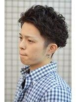 王道☆黒髪ショート×ワイルドパーマ