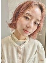 エンクス(enx)ピンクベージュ×外ハネボブ 鶴ヶ峰横浜美容室