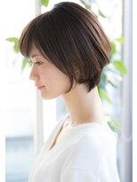 トゥーナ 表参道(tona)【to/na】大人可愛い前下がりセシルカットショートボブ