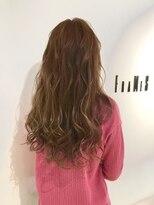 フレイムスヘアデザイン(FRAMES hair design)ハイライト×ペールピンク