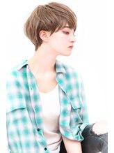 ヨファ ヘアー(YOFA hair)透明感ラベンダーカラーイメチェンショート#前髪似合わせ 0503