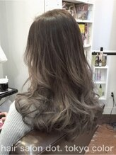 ヘアーサロン ドットトウキョウ カラー(hair salon dot.tokyo color)【外国人風】グレーグラーデーション