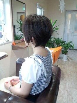 """マローンヘア(marron hair)の写真/《自然派大人カラーはコレ♪》髪・頭皮に優しい""""オーガニック""""のカラーを使用◆話題の""""香草カラー""""取扱!!"""
