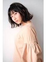 シアン ヘア デザイン(cyan hair design) 【cyan】外ハネ ルーズボブ