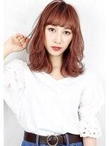 ヘアサロン ガリカ 表参道(hair salon Gallica)『 ダメージレスパーマ 』×『 ピンクグレージュ 』ミディアム☆
